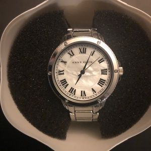 Anne Klein Mother of Pearl Stainless Steel Watch